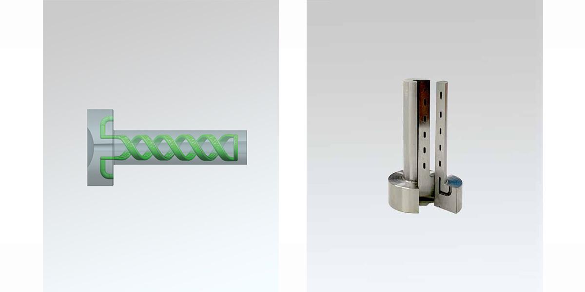 3D打印模具标准件浇口套随形水路设计