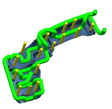 毅速3D打印模具随形水路